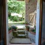 Gite entrance looking out to garden